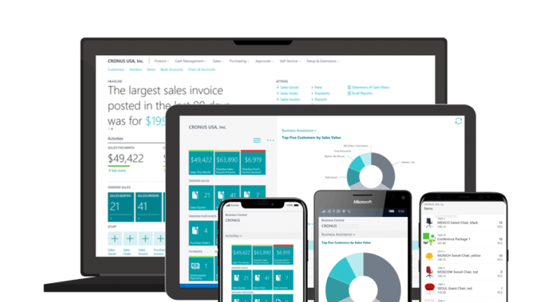 Microsoft Dynamics 365 Business Central devices - Microsoft Dynamics 365